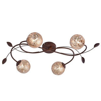 PAUL NEUHAUS Floraal gevormde plafondlamp Greta, 4 lichtbronnen