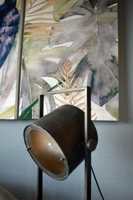 PTMD PTMD Vloerlamp 'Derek', Metaal, 120 x 23.5 x 29.5cm, kleur Zwart