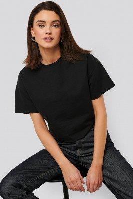 NA-KD Basic NA-KD Basic Sweatshirt Tee - Black