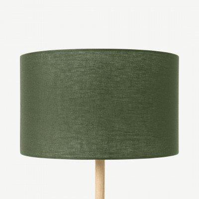 MADE.COM Brisa lampenkap van 100% linnen, 40 cm, mosgroen