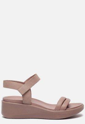 ECCO Ecco Flowt Wedge sandalen met sleehak taupe
