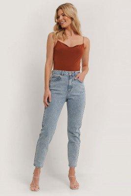 NA-KD NA-KD Mom Jeans - Blue