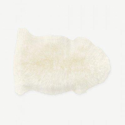 MADE.COM Helgar extrakleine schapenvacht, 60 x 90 cm, ivoor