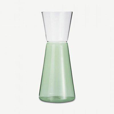 MADE.COM Ichendorf Milano tweekleurige glazen kan, 75 cl, groen en transparant