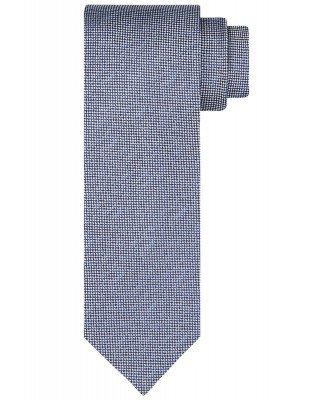 Profuomo Profuomo heren navy geweven zijden stropdas