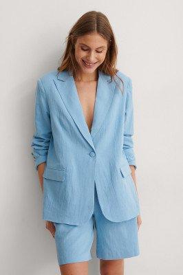 NA-KD Trend NA-KD Trend Blazer Van Linnenmix - Blue