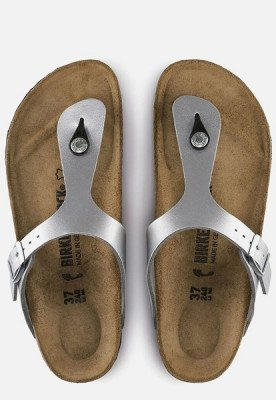 Birkenstock Birkenstock Gizeh slippers zilver