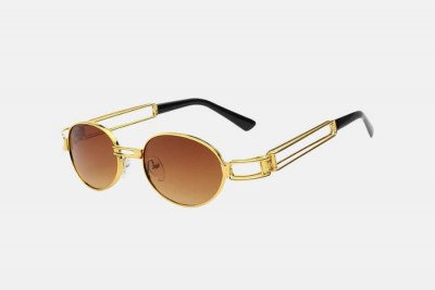 Blank-Sunglasses NL SLIPPERY. - Gold with brown