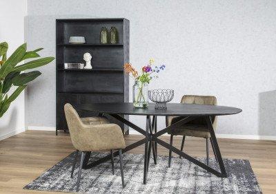Brix Brix Vloerkleed 'Kelly' kleur Zwart, 170 x 240cm