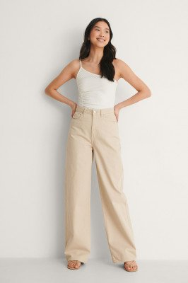 NA-KD Party NA-KD Party One-Shoulder Top Met Ruches - Offwhite
