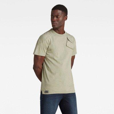 G-Star RAW Military 3D Woven Pocket T-Shirt - Groen - Heren