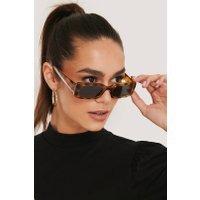 NA-KD Accessories Wide Retro Look Sunglasses - Brown