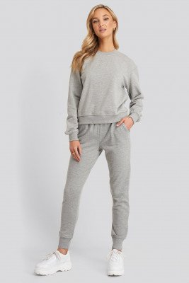 NA-KD Basic Basic Joggingbroek - Grey