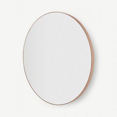MADE.COM Arles grote ronde spiegel, 85 cm, geborsteld rose goud