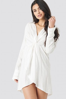 Trendyol Mid Knotted Dress - White