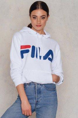 Fila FILA Classic Logo Hoodie - White