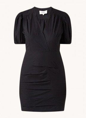 BA&SH ba&sh Come mini jurk met pofmouw en plooien