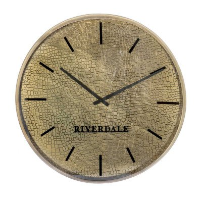 Riverdale NL Wandklok Levy goud 60cm