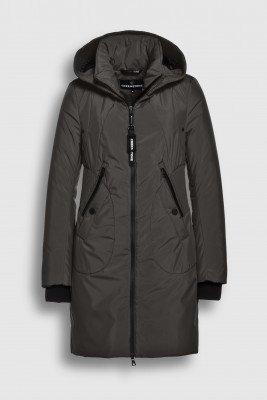 Creenstone Creenstone Technical coat with smocked details - Dark Pine