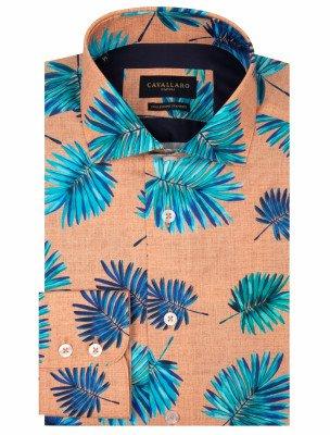 Cavallaro Napoli Cavallaro Napoli Heren Overhemd - Davide Overhemd - Oranje