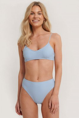 NA-KD Swimwear Maxi Highwaist Slip - Blue