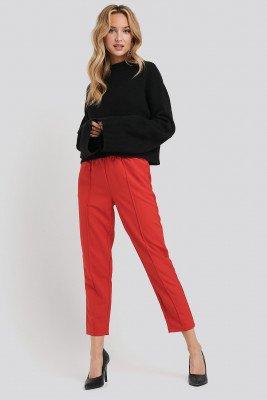 NA-KD NA-KD Elastic Waist Seamline Pants - Red