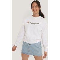 Champion Sweatshirt Met Ronde Hals - White