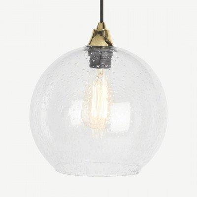 MADE.COM Edna glazen lampenkap, doorzichtig glas