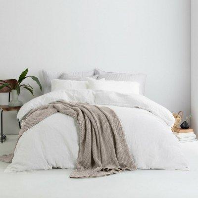 MADE.COM Grove 100% katoenen stonewashed bedsprei, 150 x 200 cm, steengrijs