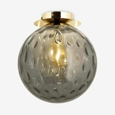 MADE.COM Ilaria badkamer plafondlamp, olijfgroen en messing