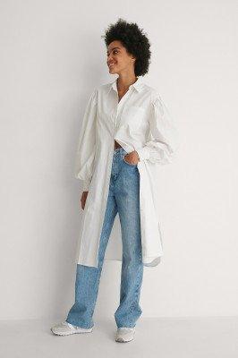 NA-KD Classic NA-KD Classic Organisch Oversized Shirtjurk - White