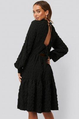 NA-KD Boho NA-KD Boho Structured Open Back Dress - Black