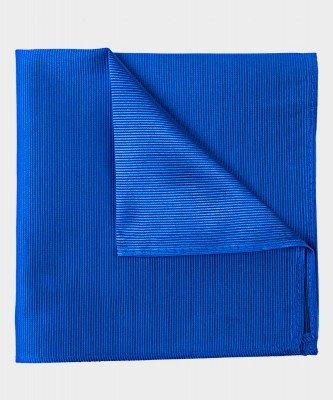 Michaelis Michaelis heren zijden pochet koningsblauw