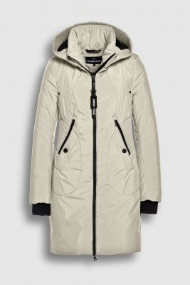 Creenstone Creenstone Technical coat with smocked details - Pearl