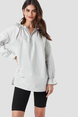 NA-KD Trend NA-KD Trend Gathered Neckline Tunic - Grey
