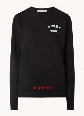 In Gold We Trust In Gold We Trust The Organic sweater van biologisch katoen met backprint