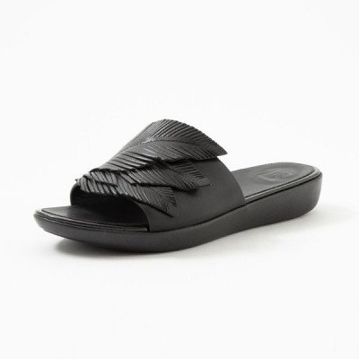 FitFlop FitFlop Sola Feather slippers zwart