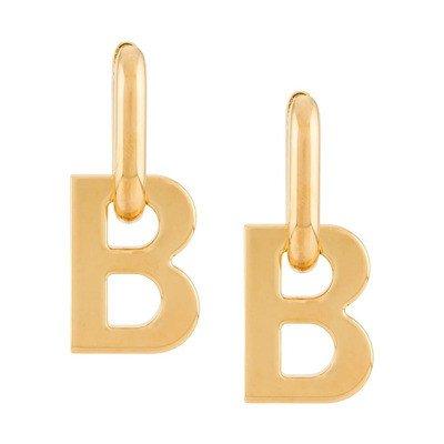 Balenciaga B-logo earrings