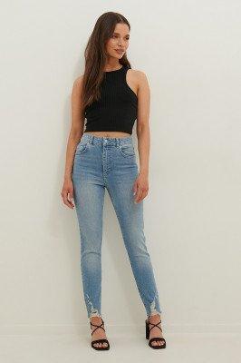 Anika Teller x NA-KD Anika Teller x NA-KD Slim-Fit Jeans - Blue