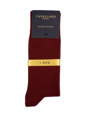 Cavallaro Napoli Cavallaro Napoli Heren Ondershirts - Socks 2-pack Dark red OS - Donkerrood