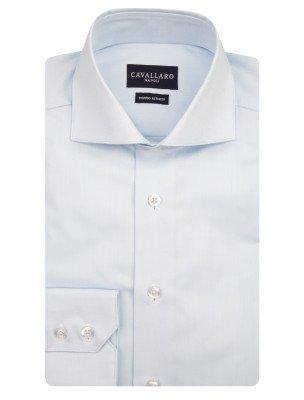 Cavallaro Napoli Cavallaro Napoli Heren Overhemd - Men Overhemd Business - Blauw