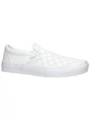 Vans Vans Reflective Checkerboard Skate Slip-Ons wit