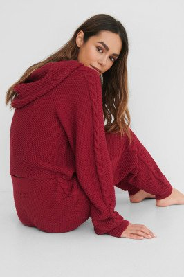 Lisa-Marie Schiffner x NA-KD Lisa-Marie Schiffner x NA-KD Gerecycleerd Cropped Hoodie - Red