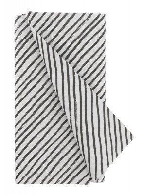 HEMA Tafelkleed - 120 X 180 - Papier - Zwart/wit Strepen (zwart/wit)