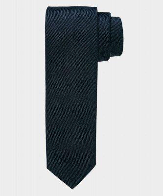Michaelis Michaelis heren smalle zijden stropdas zwart