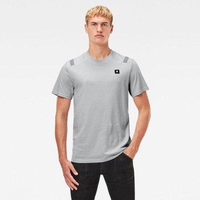G-Star RAW Shoulder Tape Reflective Logo T-Shirt - Grijs - Heren