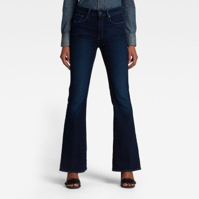 G-Star RAW 3301 Flare Jeans - Donkerblauw - Dames