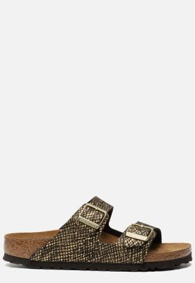 Birkenstock Birkenstock Arizona Python slippers zwart