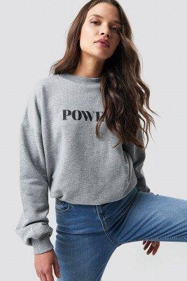 NA-KD NA-KD Power Sweatshirt - Grey