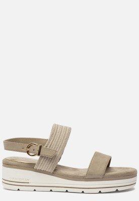 marco tozzi Marco Tozzi Vegan sandalen met sleehak groen